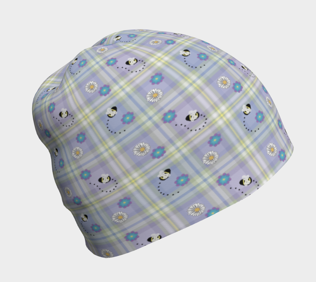 Buzzing Bees Periwinkle - Beanie