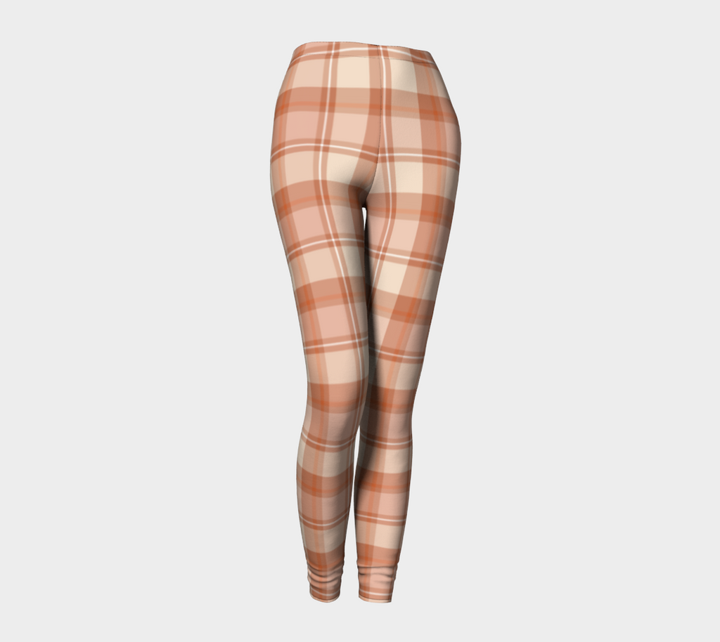 Pumpkin Patch Plaid - Ecopoly Canadian Made Leggings