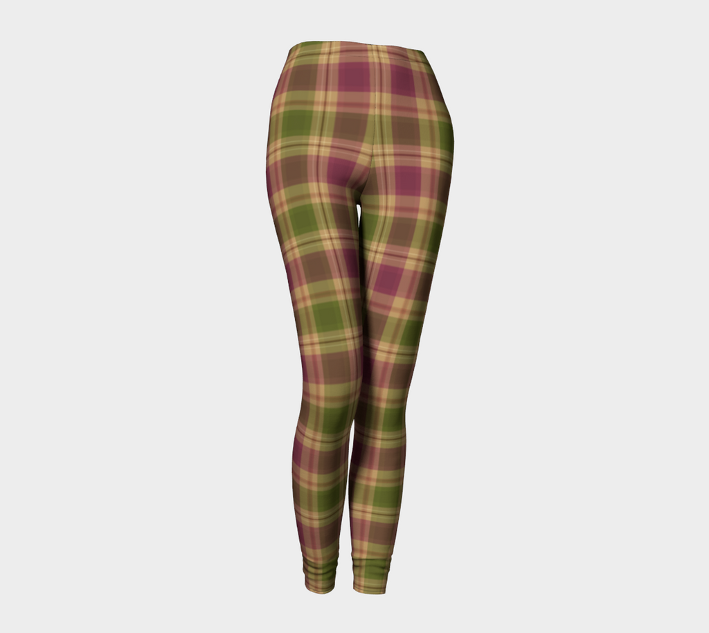 Autumn Stroll Plaid - Ecopoly Canadian Made Leggings