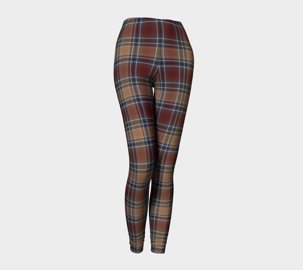 Midnight Mystery Plaid - Ecopoly Canadian Made Leggings