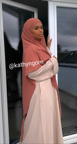 Khimar pointe rond hijab style islam