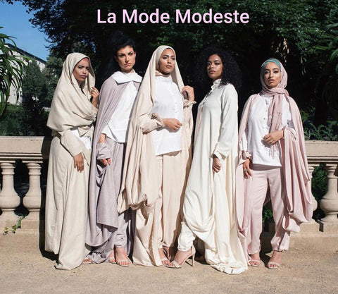 mode modeste  hijab hijeb robe ensemble hijab à enfiler hijab une pièce tunique jilbeb mode modeste fashion qalam dress boutique musulmane abaya pas cher