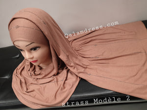 Hijab Châle viscose Strass - Luxury