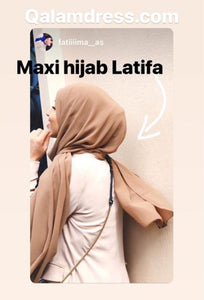 maxi hijab latifa 90*190 hijab tunique jilbeb mode modeste fashion  Qalam Dress Boutique