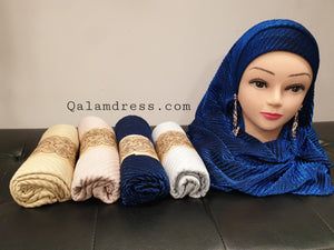 Hijab Gaufré Brillant - luxury
