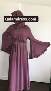 Robe à volant Flounce Dress avec son hijab