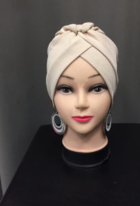 Turban beige hijab tunique jilbeb mode modeste fashion  Qalam Dress Boutique