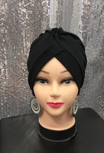 turban noir hijab tunique jilbeb mode modeste fashion  Qalam Dress Boutique