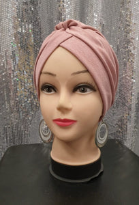 Turban rose hijab tunique jilbeb mode modeste fashion  Qalam Dress Boutique