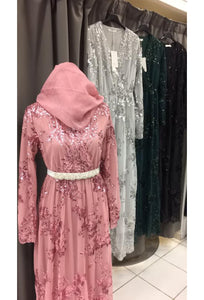 robe sequin femme robe longue hijab