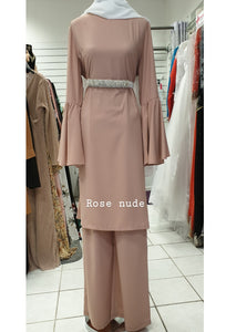 tunique ultra fluide rose longue hijab tunique jilbeb mode modeste fashion  Qalam Dress Boutique