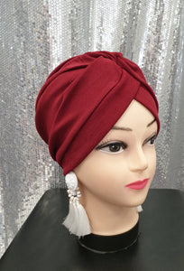 turban bordeaux hijab tunique jilbeb mode modeste fashion  Qalam Dress Boutique