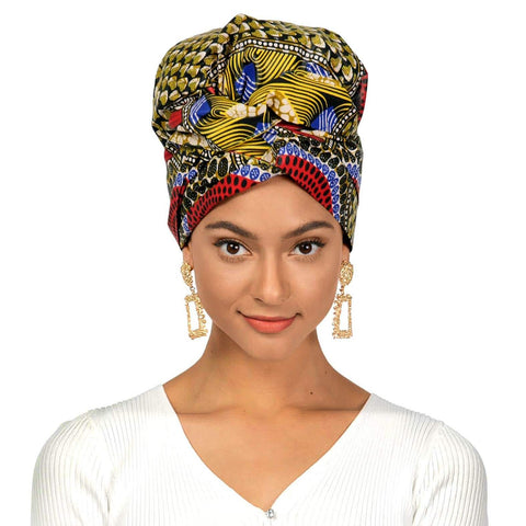 Medallion | Headwrap Combined with Nightcap(2 in 1)| -AF1119