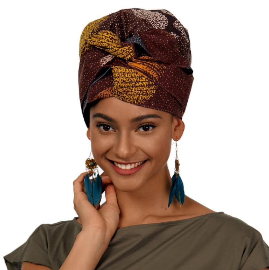 Hickory | Headwrap Combined with Nightcap(2 in 1)| -AF1123