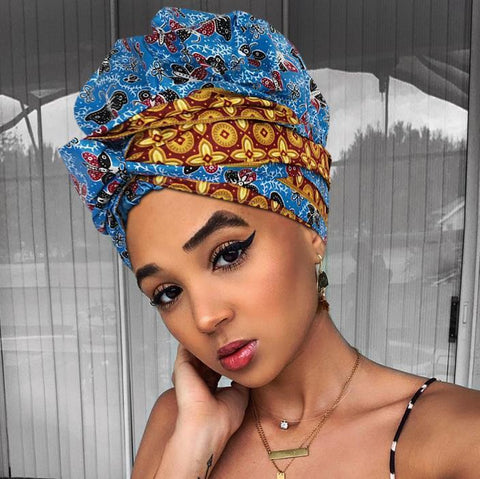 Morpho | Headwrap Combined with Nightcap(2 in 1)| -AF1136