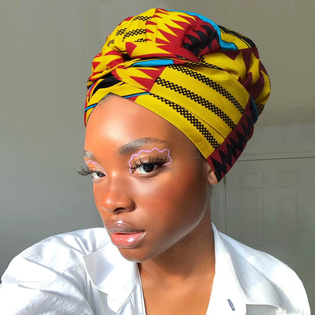 Brick|Headwrap Combined with Nightcap(2 in 1)-AF1167
