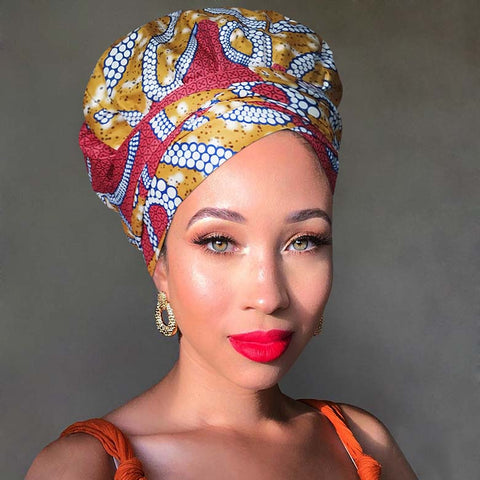 Ritzy | Headwrap Combined with Nightcap(2 in 1)| -AF1977