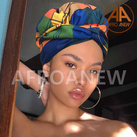 Royal | Headwrap Combined with Nightcap(2 in 1)| -AF1990