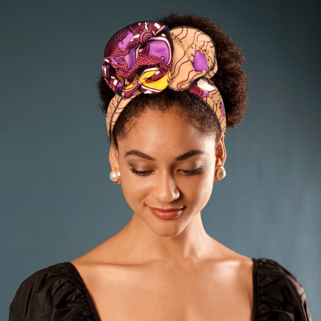 Creative Open Crown Headbands(Ipomoea Nil)-AF2148