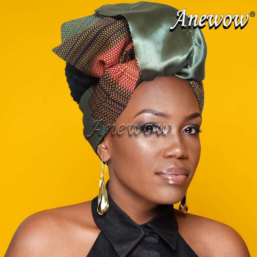Creative Open Crown Headbands(Brown Grid)-AF2163