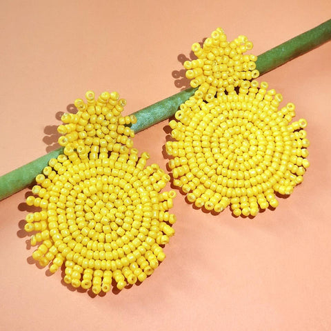 Chic Earrings (Yellow) - AF 7018
