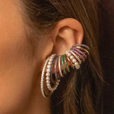 Multicolor Hoop Sliding Earring| -AF7001