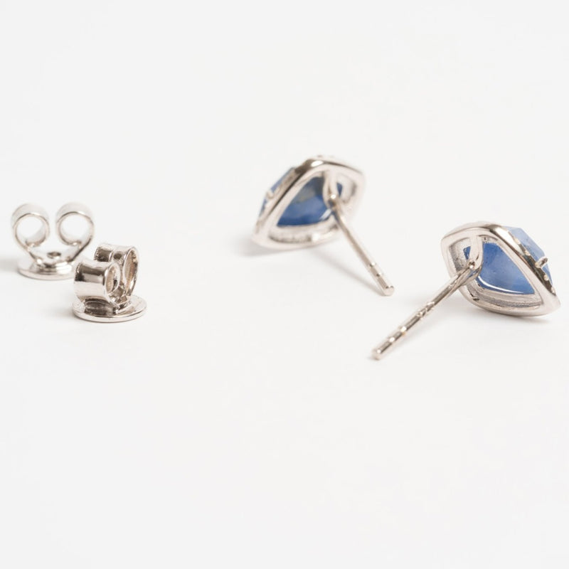 Sapphire Pear Earrings