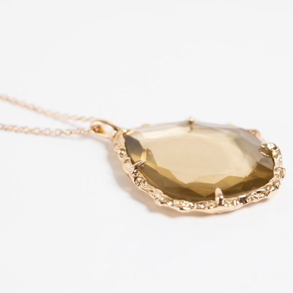Trapezoid Necklace in Citrine