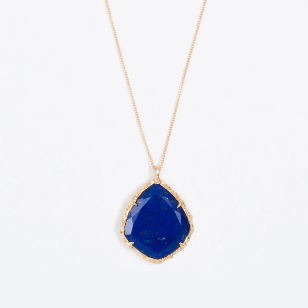 Trapezoid Necklace in Lapis