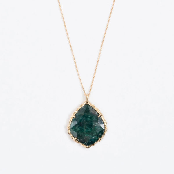 Trapezoid Necklace in Emerald