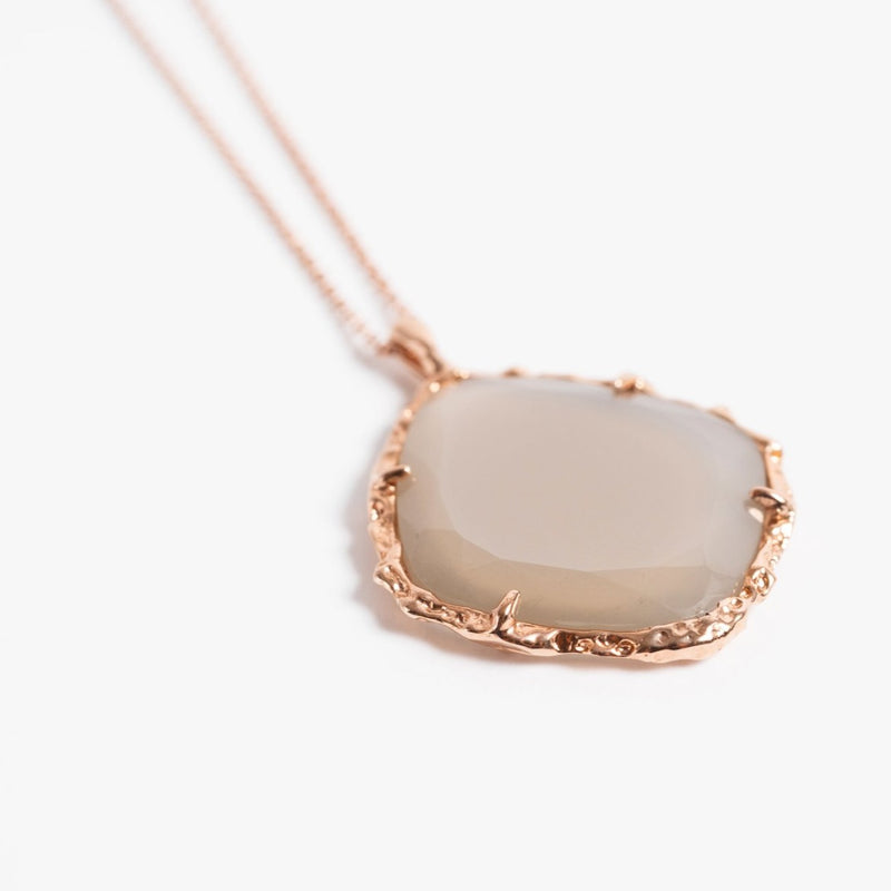 Trapezoid Necklace in Grey Moonstone
