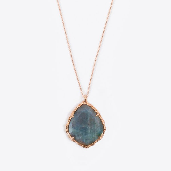 Trapezoid Necklace in Labradorite