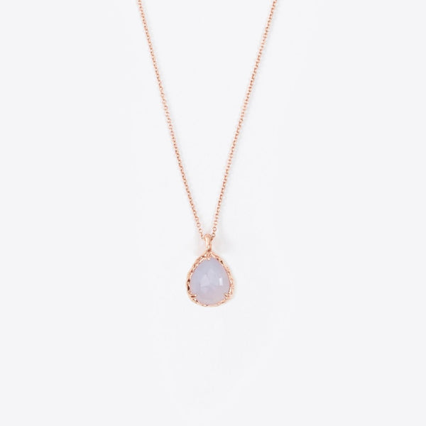 Mini Teardrop Necklace in Chalcedony