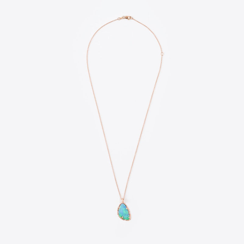 Opal Doublet Freeform Teardrop Necklace