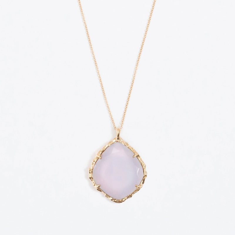 Trapezoid Necklace in Chalcedony