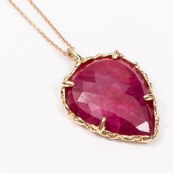 Teardrop Necklace in Ruby