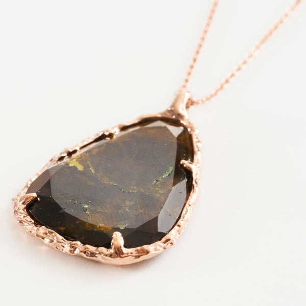Tourmaline Organic Teardrop Necklace