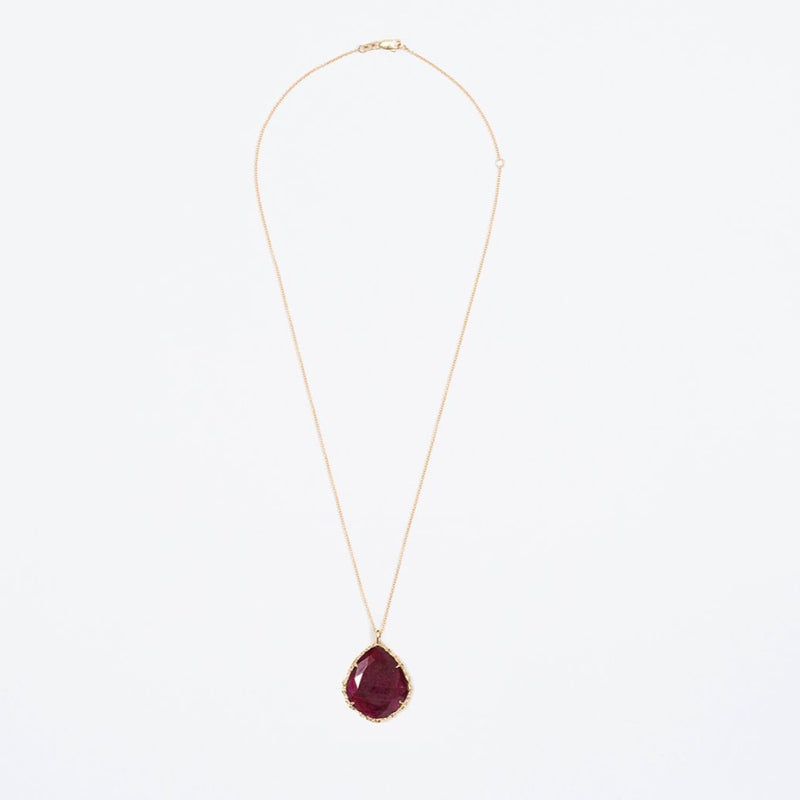 Trapezoid Necklace in Ruby