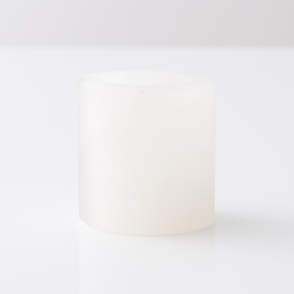 White Onyx Round Candle Holder