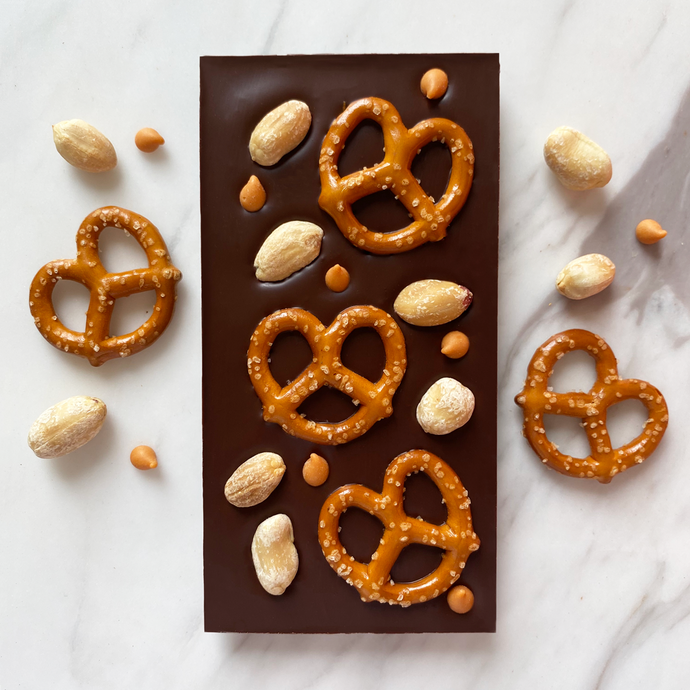 Pretzel, peanut & butterscotch - Chocomono