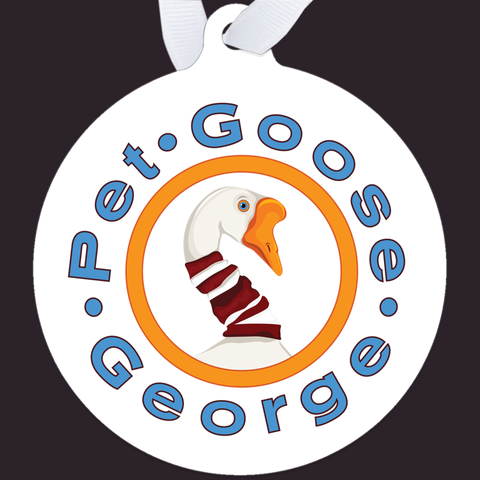 Pet Goose George: Metal Ornaments – accessories