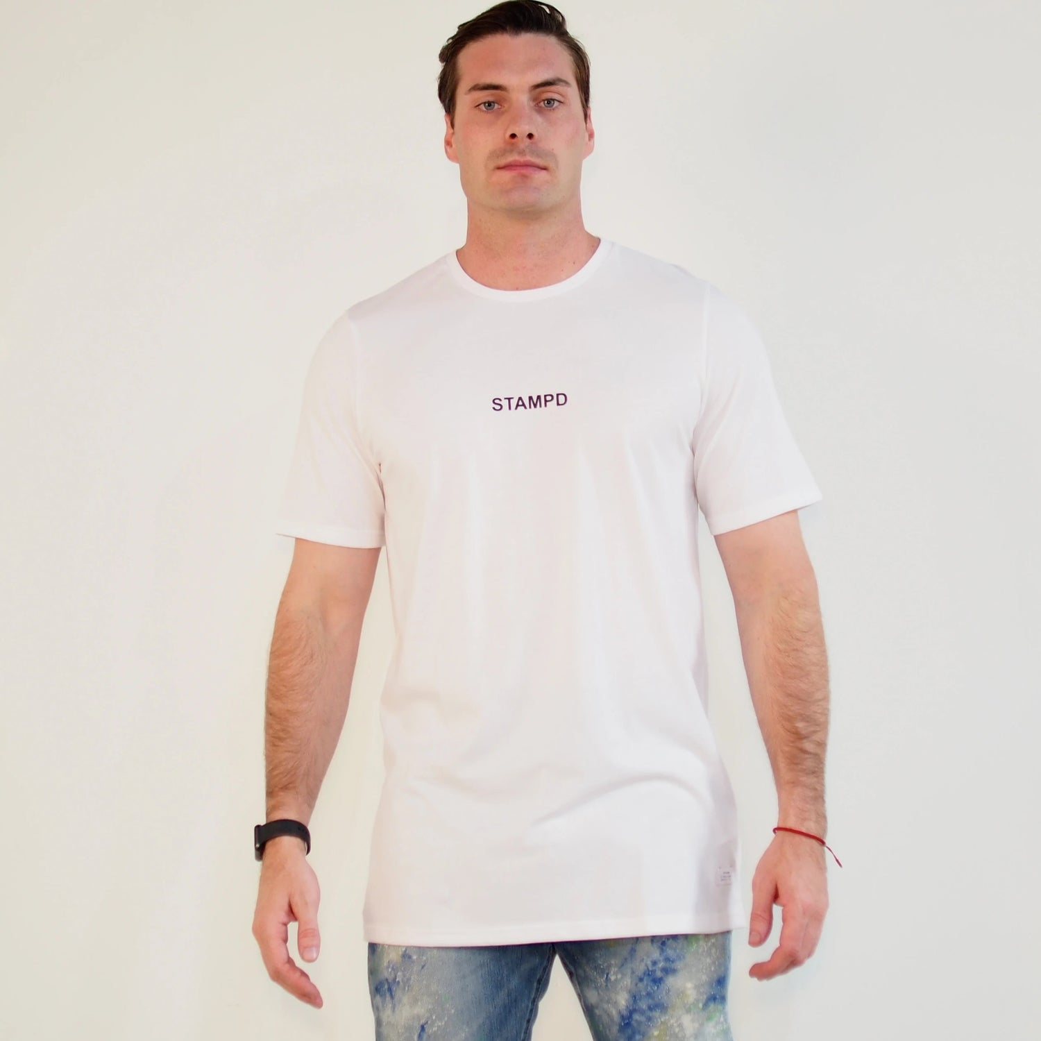Center Logo Tee Wht
