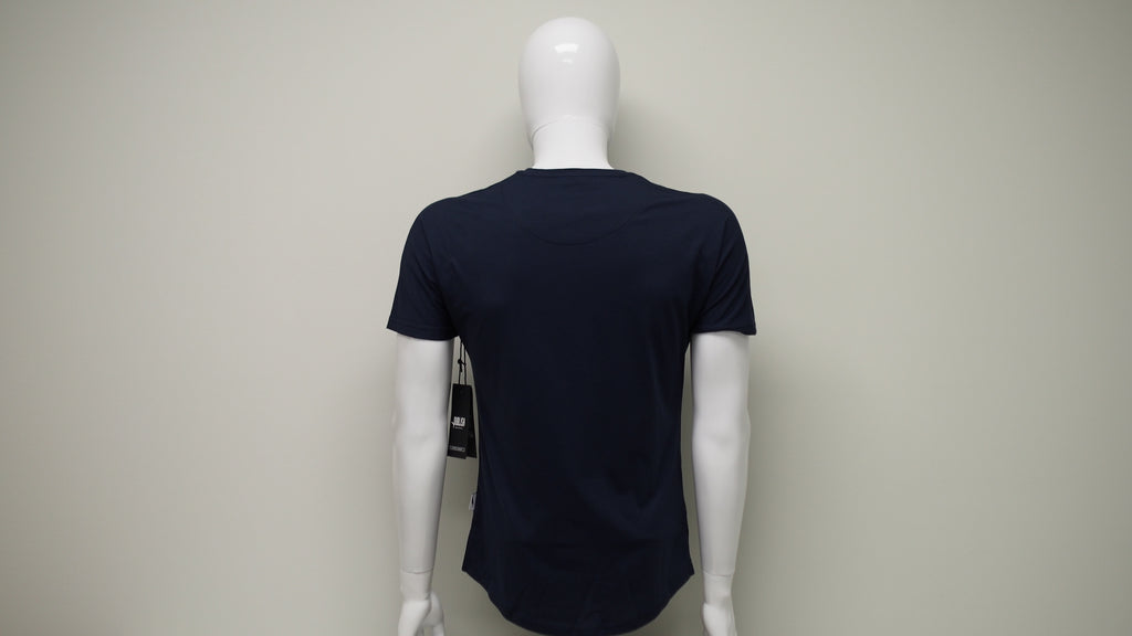 Scallop Knit Tee - Navy