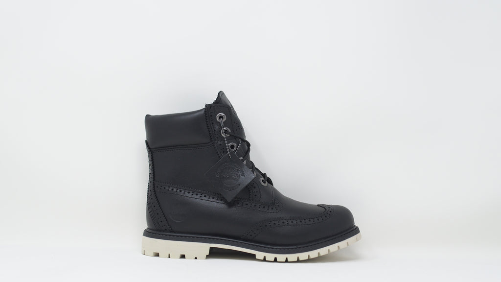 6 Inch Premium Waterproof Boots - Brogue Black