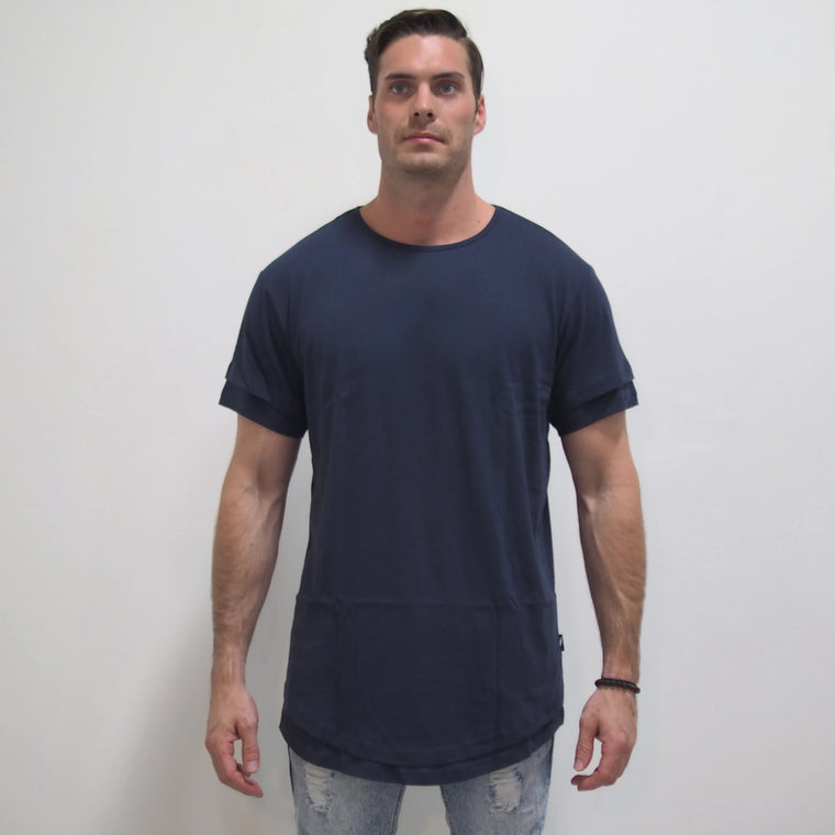 Milan Knit Tee - Navy