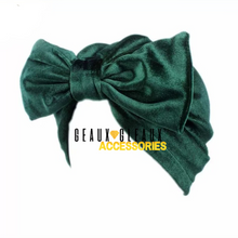 Load image into Gallery viewer, Velvet Bow Turban