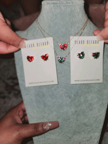 Deart Heart Necklace Set