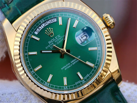 Arrival Replica Rolex Day-Date 36mm – Green Mamba in The Forest