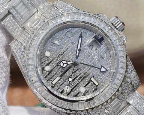 TW Factory Replica Rolex GMT-Master II116769TBR Full Diamond Watch with Asia 2836 Movement