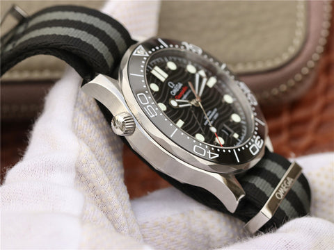Omega Seamaster Diver 300m Co-Axial Black Ceramic Watch with A8800 Movement.